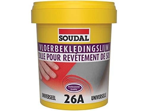 Soudal Bodenbelagskleber 26A für weiche Bodenbeläge wie Vinyl, Textil, PVC Linoleum Eimer 1Kg