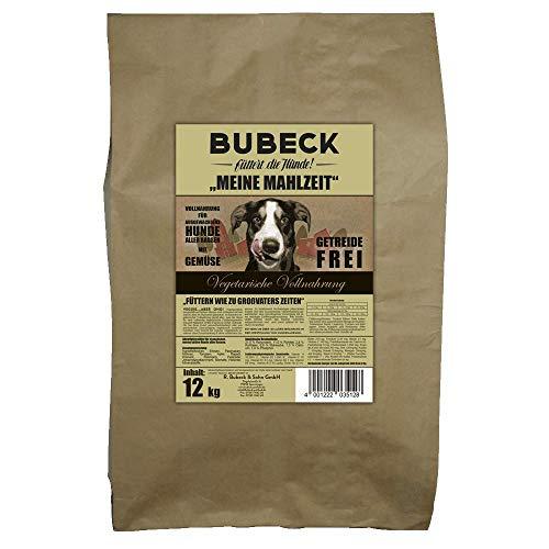 Bubeck Trockenfutter | Vegetarisch | getreidefreies Hundefutter | gebackene Vollnahrung für Hunde Aller Rassen | Adult | für futtersensible Hunde geeignet (12 Kg)