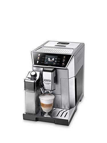 De'Longhi PrimaDonna Class ECAM 550.85.MS Kaffeevollautomat mit Milchsystem, Cappuccino und Espresso auf Knopfdruck, 3,5 Zoll TFT Farbdisplay und App-Steuerung, silber