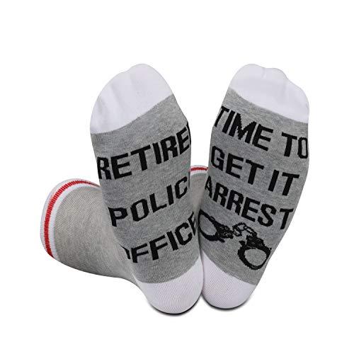 Policjanci emerytura prezent nowość skarpety dla emerytowanych gliniarzy emerytowanych policjantów czas na dostawę go aresztowania