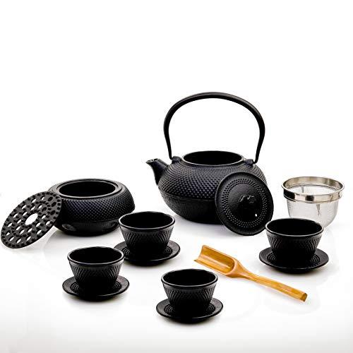 Lumaland Servicio de té 12 Piezas: Tetera de 1,4 litros, cucharilla dosificadora,...