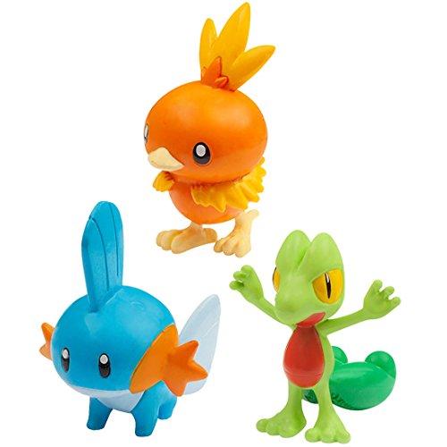 Pokemon Monster Collection EX 20th Anniversary 3 Pokemon of the Journey (Torchic , Mudkip, Treecko) (Flemmli, Hydropi, Geckarbor) Vol.3 The Hoenn Region