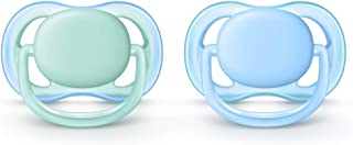 Philips Avent Ultra Air Soother, 0-6 Months, 2-Pack, Assorted Colours, SCF244/21