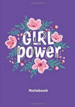 Girl power - notebook: Notebook | 7 x 10 inches | 102 high quality pages | Paperback | Ideal personal diary | women's notebook | birthday gift girl or woman | feministe's notebook | violet background