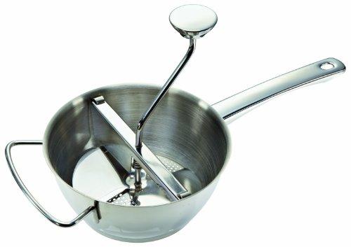 Leifheit ProLine-serie Passeermolen, diameter 20 cm, incl. 3 inzetstukken, van hoogwaardig roestvrij staal voor het pureren van groenten, fruit, babyvoeding, soepen, vaatwasmachinebestendig, passeerzeef, aardappelpers