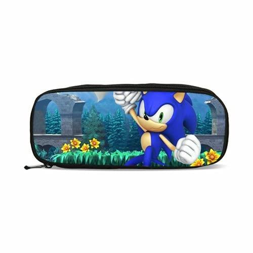 MPY-SEA Sonic Sonic 6-5 - Mochila de lona para el colegio o el ordenador portátil (4 unidades, incluye bolsa para el almuerzo y estuche)
