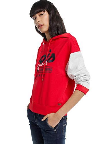 LOIS JEANS - Sudadera para Mujer   Sudadera con Capucha Estampada con Contraste   algodón   Tallaje en Pulgadas   Talla Inch - XL