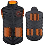 (Black)Electric heating vest heated jacket clothes 5pcs powerful rapid heating large heating panels,3