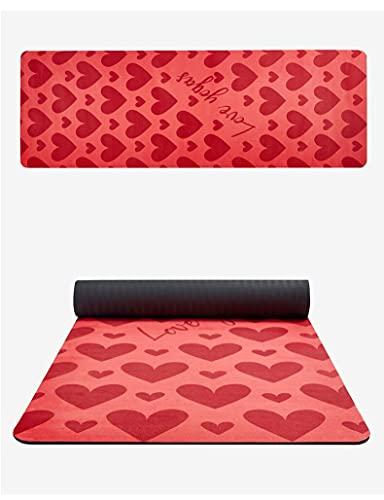 SSDT Colchoneta de yoga con estampado de flores, de ante de 12 mm de grosor, respetuosa con el medio ambiente, antideslizante, para yoga, pilates, fitness