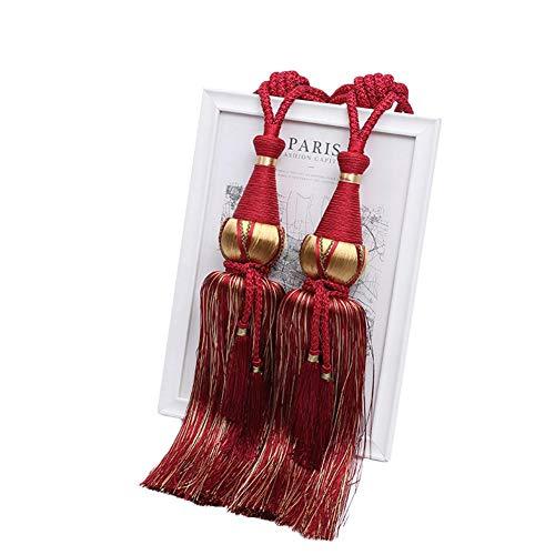 Rek 1 paar gordijn borstel Tiebacks kwastrand opknoping riem ballen gordijn accessoires houder terug Tie Backs Lashing Bind, 2 Stks