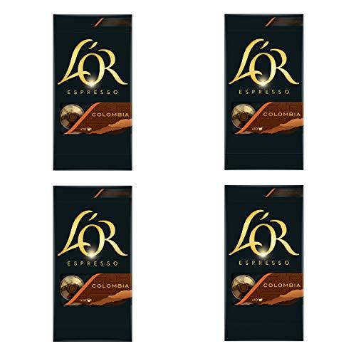 Douwe Egberts LOR Espresso Colombia, Kaffeekapseln, Nespresso Kompatibel, gemahlener Röstkaffee, 40 Kaffee Kapseln