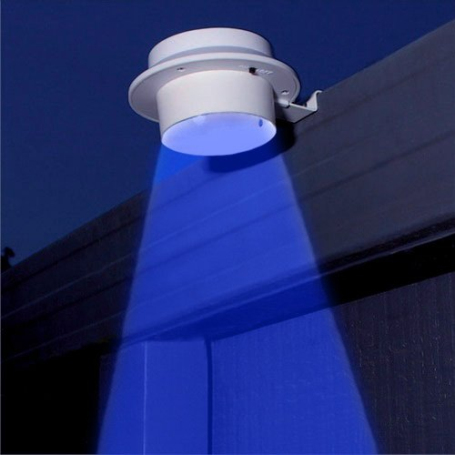 Tooltime Pack of 6 White Superbright 3 Blue LED Solar Powered Lights for Gutters or Garden Fences