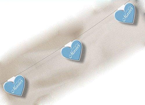 Turquoise Heart Garland 550 cm Wedding Ceremony Decoration