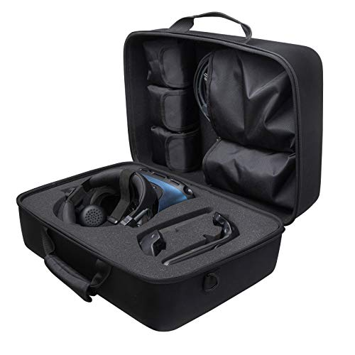 Stroage Box for HTC VIVE Cosmos Elite and Accessories Carry Case with Shoulder Strap (Black)