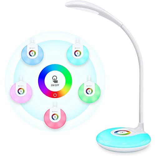 Etekcity LED Desk Lamp with USB Charging Port, Eye-caring Table Lamp...