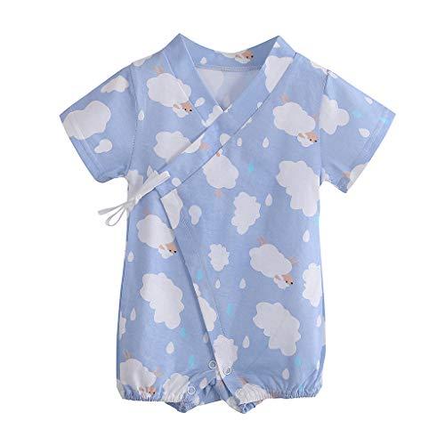 YWLINK Mono Nubes De Dibujos Animados ReciéN Nacido Bebé Ropa Traje De Escalada Encaje Mezcla De AlgodóN Bautismo De NiñOs Vestido De Fiesta Moda Linda CóModo Mono(Azul Claro,0-3 meses/59)