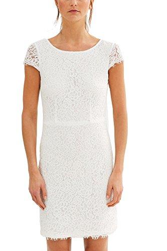 ESPRIT Collection Damen 037EO1E026 Kleid, Weiß (Off White 110), 38