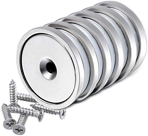 DIYMAG Super Power Neodymium Cup Magnets with 95 LBS Pull Capacity Each Countersunk Hole for product image