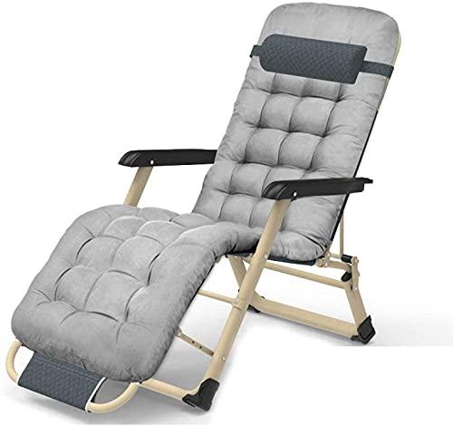 Silla de Gravedad Cero Silla reclinable Silla de salón Plegable Plegable al Aire Libre Plegable Cero sillón reclinable, sillas de Playa Ajustable Carga máxima 200kg, para Patio Patio Camping