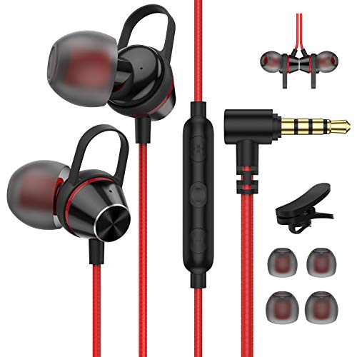 Auriculares In-Ear con micrófono 3,5 mm Magnéticos Auriculares Headphone con Cable para Samsung A51/A21s/A12/A32 Huawei P30, Pixel 4a, OnePlus N10/N100, LG Wing