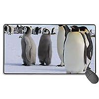 Emperor Penguin マウスパッド 大型 ゲーミングマウスパッド キーボードパッド 防水マウスパッド 拡張マウスパッド 滑り止め ゲーム向け オフィス おしゃれ 750*400*3mm