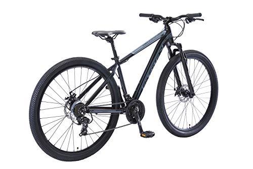 BIKESTAR Hardtail Aluminium Mountainbike Shimano 21 Gang Schaltung, Scheibenbremse 29 Zoll Reifen | 17 Zoll Rahmen Alu MTB | Blau