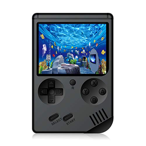 JAFATOY Retro Handheld Games Console for Kids/Adults, 168 Classic Games 8 Bit Games 3 inch Screen Video Games with AV Cable Play on TV (Black)