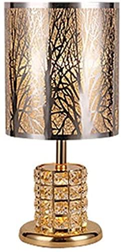 JAOSY Lámpara de Mesa de Cristal de Metal Minimalista Moderna Sala de Estar Dormitorio lámpara de Noche luz LED de Noche 20 * 43 cm