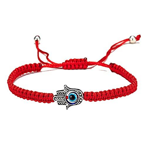 Mujeres Lucky Red String Line Evil Eye Charms Para Pulseras Pulsera De La Amistad De Hilo Rojo Trenzado Hecha A Mano Para Mujeres Y Niñas