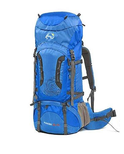 sac à dos randonnée sac extérieur hommes et les femmes de camping sac à dos alpinisme sac à bandoulière sac de Voyage à pied Sacs à dos de randonnée ( Couleur : Bleu , taille : 70+10L )