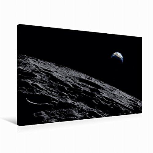 Premium - Lienzo de 75 cm x 50 cm transversal sistema Bailly Crater de CALVENDO Ciencia
