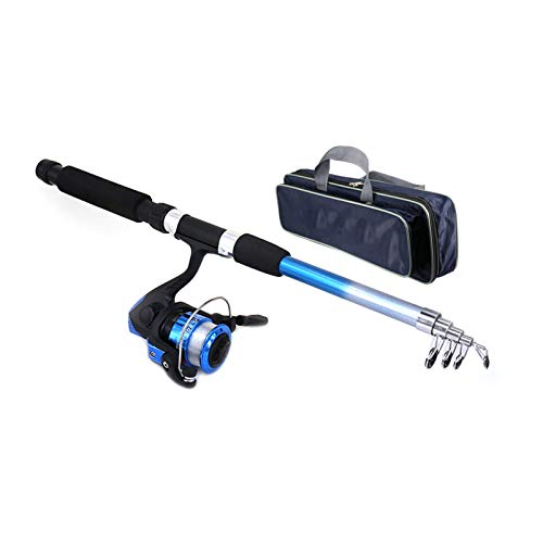 supertop Anfänger Kinder Angelrute Set Tragbare Retractable Angelrute Sea Fishing Tackle Kit für Kinder