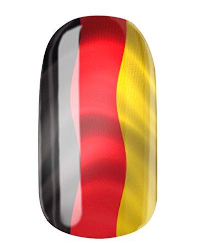 Nagelfolien/Deutschland - selbstklebend mit individuellen Designs by Glamstripes- made in Germany. 12 Nail Wraps äußerst strapazierfähig mit langer Haltedauer