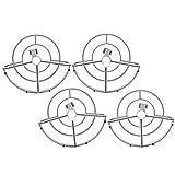 Qqmora Pc Propellers Guard Drone Propellers Guard Circle Diseño de liberación rápida Protección Completa para Mejorar la Seguridad del Vuelo para Mini Drone(Gray)