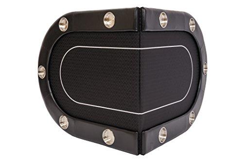 Riverboat Faltbare Pokerauflage mit Schwarzem wasserabweisenden Stoff und Tasche – Pokertisch 200cm - 6