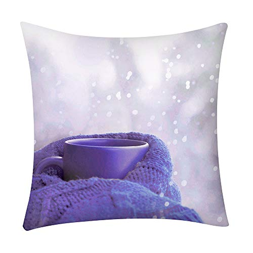 Print Pillow Case Polyester Sofa Car Cushion Cover Home Decor, Polyester Pillowcase 45 * 45cm, A