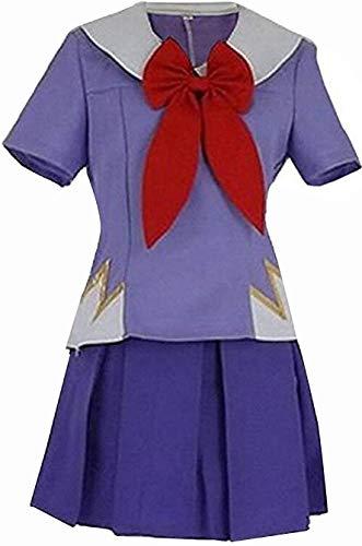 Nsoking The Future Diary Gasai Yuno Mirai Nikki Girls School Uniform Dress Cosplay Costume (Medium, Purple)