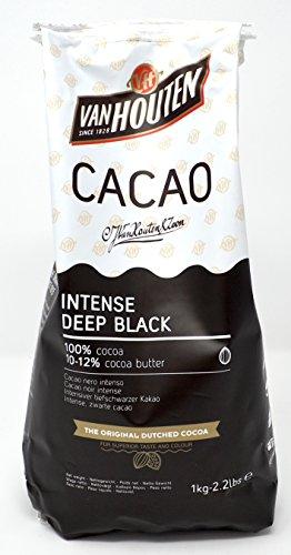 Van Houten - Intensives tiefschwarzes Kakaopulver (10-12% Kakaobutter) 1kg