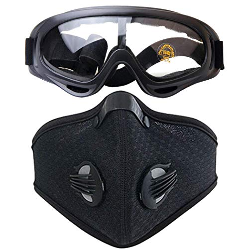 Skull Airsoft Mask and Goggles - Tactical Half Lower Face Mask Steel Metal Mesh for BB Gun/CS Game/Paintball - Anti-UV Adjustable Combat Tactical Military Goggles for Men Women Kids (Mesh gogles)