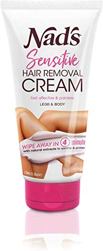 Nad's Hair Removal Cream - Gentle & Soothing Hair Removal For Women - Sensitive Depilatory Cream For Body & Legs, 5.1 Oz