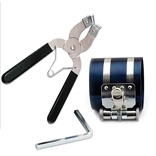KingBra - Compresor de anillo de pistón de 7,6 cm viene con llave ajustadora, capacidad de compresión de instalación ajustable de 53 a 175 mm