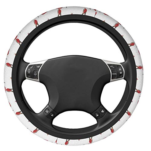 shoes Car Steering Wheel Cover Universal Fit Most Car Sedans,SUV, ATV, Comfort Grip Soft Comfortable Neoprene Cloth Washable, Steering Wheel Protector for Unisex (38cm / 15