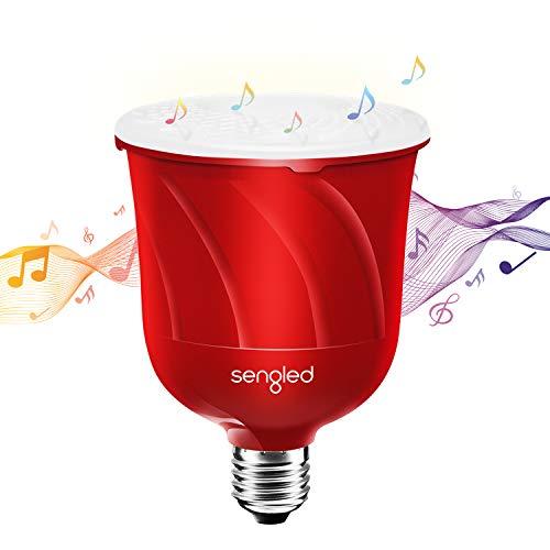 Sengled Pulse Master Lampadina Bluetooth Altoparlante E27 Led Musica Lampada Con JBL Altoparlante Bluetooth, Lampadina Intelligente Funziona Con Amazon Alexa, Controllo Da App, Rosso