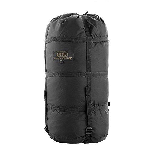 M-Tac Nylon Sleeping Bag Compression Sack - Stuff Bag - for Camping Hiking Backpacking XL (Black)