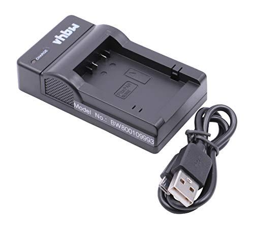 vhbw Cargador batería USB Compatible con Panasonic Lumix DC-FZ82 baterías cámaras, videocámaras, DSLR -Soporte Carga