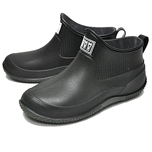 [ミツウマ] ベールノース レインブーツ 長靴 7090 防水 軽量 北海道 ショート丈 アウトドア ユニセックス (ブラック, 26.0 cm)