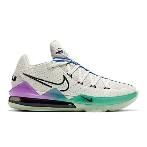 Nike Zapatos de los hombres Lebron 17 Bajo Brillo en la oscuridad CD5007-005, (Spruce Aura/Racer Azul/Sail/Negro), 41 EU