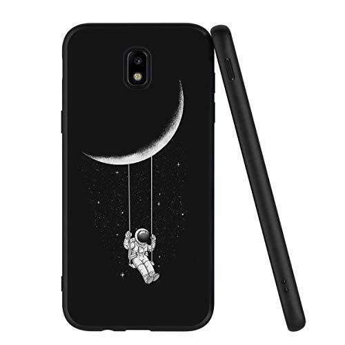 Yoedge Cover Samsung Galaxy J7 2017, Sottile Antiurto Custodia Nero Silicone TPU con Disegni Pattern...