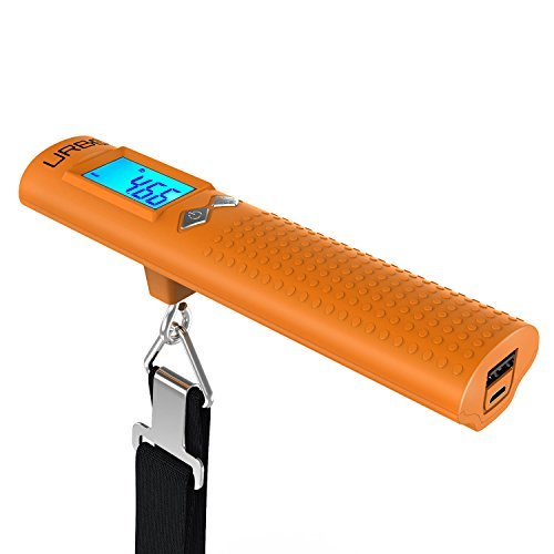 Digital Luggage Scale - 6000 mAh Powerbank & LED Flash Light