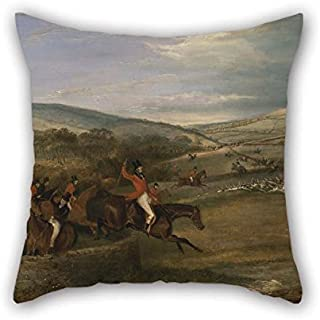 20 X 20 Inches / 50 By 50 Cm Oil Painting Francis Calcraft Turner - The Berkeley Hunt, 1842- Full Cry Cushion Covers Each Side Ornament And Gift To Car Teens Boys Dinning Room Kids Kids Boys Gf